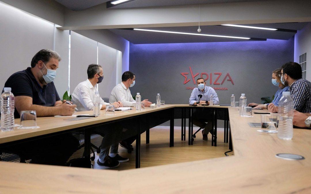Συνάντηση με τον Πρόεδρο του ΣΥΡΙΖΑ